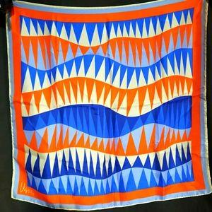 1970's silk Vera Neumann scarf w/ jagged pattern